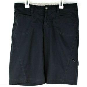Athleta Black Casual Shorts Pockets Zipper Women 6